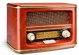 Dual NR 1 Nostalgieradio (UKW-/MW-Tuner, Frequenzskala, Holzgehäuse, Lautstärkeregler) Braun
