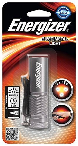 Energizer Tragbare Taschenlampe aus Metall 6 Nichia LED, Metal 3AAA