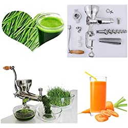 ZHJ Acier Inoxydable Main Manuel agropyre centrifugeuse Presse-Fruits Lente de la vis d'herbe de blé de l'extracteur de jus d'orange légumes Machine