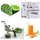 A mano in acciaio inossidabile wheatgrass manuale coclea centrifuga lenta frutti spremitore erba di frumento di verdura Succo di arancia macchina estrattore