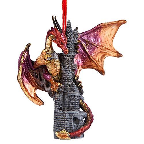 Christbaumschmuck - Sansibar die gotischen Drachen auf Schloss Feiertags-Verzierung - Drache-Statue -