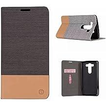 Fundas y estuches para teléfonos móviles, Premium PU cuero y suave TPU caucho cartera Flip cubierta protectora con ranura para tarjeta / soporte para LG K10 V10 ( Color : Marrón , Talla : LG V10 )