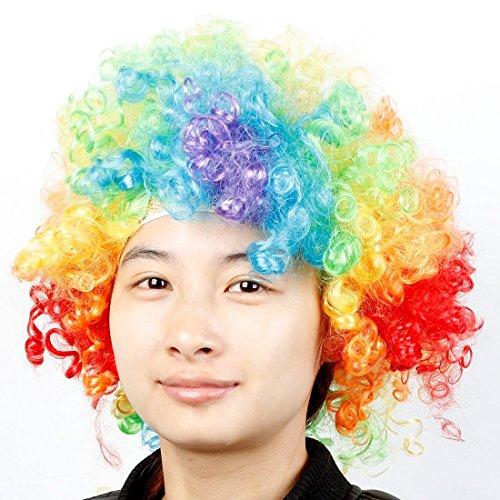 Kostüm Bunte Clown Afro Perücke Wilde Locken bis - Clown Afro Perücke Kostüm