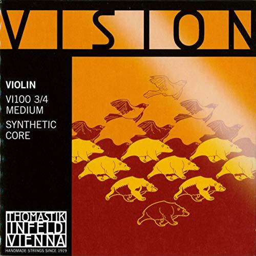 Thomastik 634155 Saiten für Violine Vision Synthetic Core, Satz 3/4 Mittel (Thomastik Vision Violine Saiten)