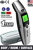 Dr Trust (USA) Forehead Digital Infrared Thermometer for babies and Adults with color