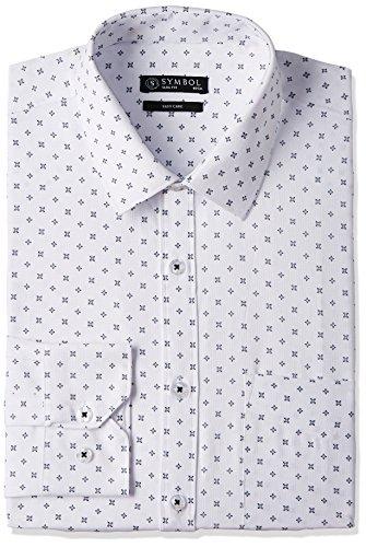 Symbol Men's Formal Shirt (S17MBS123_40_White)