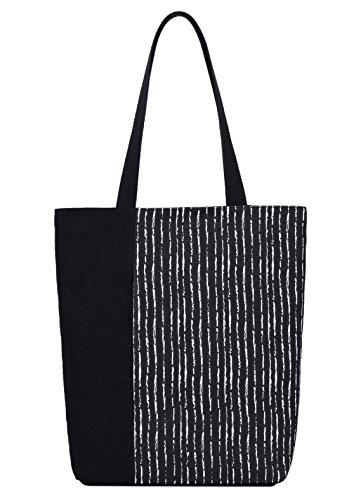 DCCN Canvas Shopper Bag Damen Handtasche Einkaufstasche mit Große Kapazität 37 * 27cm