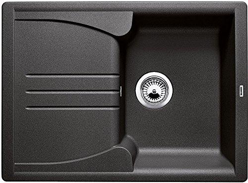 """Blanco Enos 40 S, Küchenspüle aus Silgranit, Anthrazit-schwarz, reversibel / mit 3 1/2\"""" Korbventil - ohne Ablauffernbedienung; 513799"""