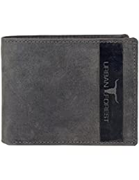 Urban Forest Oklahoma Leather Wallet for Men - Packed in Premium Wooden Box for Festive Gifting