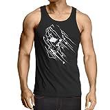 lepni.me N4686V Weste Art skull - vintage t shirts (X-Large Schwarz Mehrfarben)