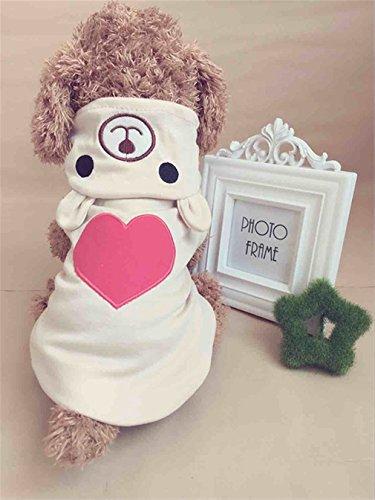 (EULSV Warme Haustier-Hundekleidung für Kleinen Hund Baumwollmantel Hoodies für Chihuahua-Haustier-Hunde-Winter-Kleidung Little Brown S)
