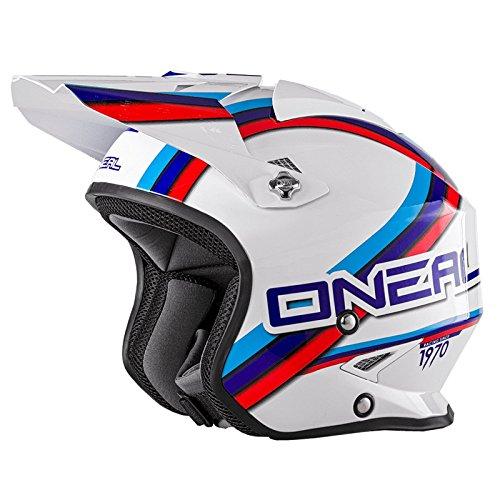 O'Neal Slat Trial Motorrad Roller Fidlock Jet Helm Scooter Circuit Mofa Magnetverschluss Visier, 0806-50, Größe M