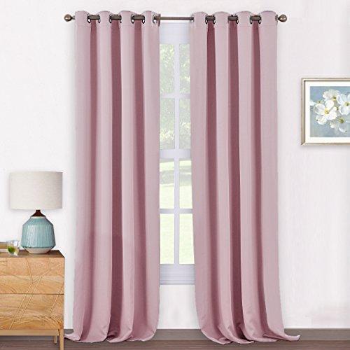 Pony dance tende per soggiorno rosa chiaro con ochielli cameretta bambina, 140 x 240 cm (larghezza x lungo), 2 pezzi