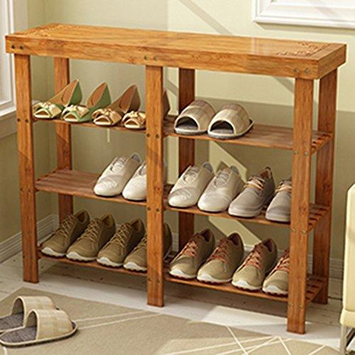 Shoe rack LVZAIXI Kiefer Holz Lagerregal Regal (größe : 100 * 28 * 80cm)