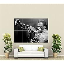 Póster gigante de la leyenda del jazz Miles Davis st271.
