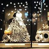 Homemay PVC pared pegatinas fiesta de Navidad Hotel cristal escaparates decorativa resistente al agua landscapingwallpaper45cm x 20cm, Matt Sliver, 45 cm x 20 cm