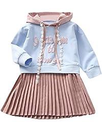 K-youth Ropa Niña, Letra Vestido De Bebé Niña Sudadera con Capucha Princesa Vestido De Niñas para Fiesta Infantil Trajes de Ceremonia Casual 2018