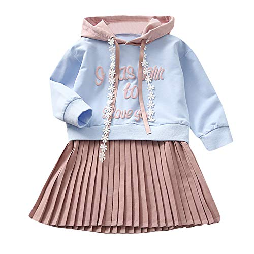 JERFER 40% off for Black Friday Brief Mit Kapuze Prinzessin Kleid Kinder Baby Mädchen Sweatshirt Outfits Kleidung