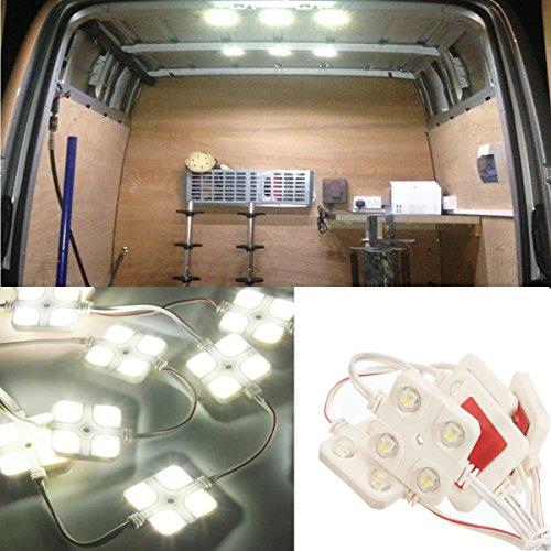 Audew 10x4 LED Auto Innenbeleuchtung Lampe Interior Licht Auto Innenraumbeleutung Leseleuchte LED Panel Kits Weiß (Beleuchtung Niederspannungs Landschaft)