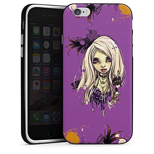 Apple iPhone 5s Housse Étui Protection Coque Bande dessinée Fille Fille Housse en silicone noir / blanc