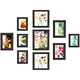 MVPower Collage Photo Frame for 10 Photos (10 x 15 cm/13 x 18 cm, 20 x 20 cm, 1 – 20 x 25 cm – 10 Frame Set for Home Decoration