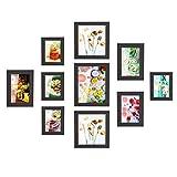 MVPOWER Bilderrahmen 10er Set Fotorahmen mit Bildabdeckung aus Glas Foto Collage von 4 Stk. 10*15cm, 3 Stk. 13*18cm, 2 S