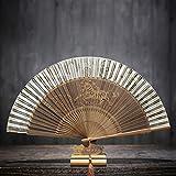 ALXC- Hand-Folding Fan Folding Fan Chinesischen Stil Antike Weibliche Fan handbemalte Fan Geschnitzt Fan Bone Handwerk Fan Geschenk Fan (22-39 cm) (Farbe : D)