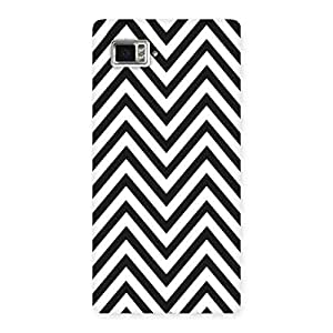 Neo World Classic BlacknWhite Stripes Back Case Cover for Vibe Z2 Pro K920