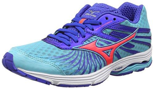 Mizuno Wave Sayonara 4 - Zapatillas de running mujer, color turquesa (capri/fiery coral/dazzling blue), talla 39 EU (6 UK)