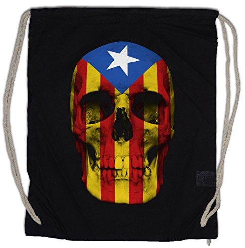 Urban Backwoods Catalonia Skull Flag Turnbeutel Sporttasche -