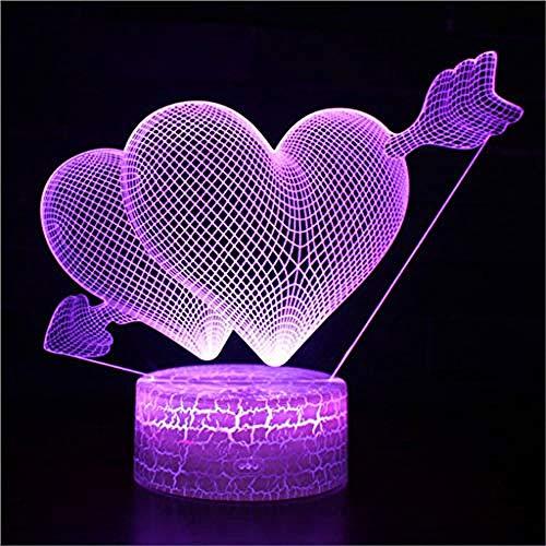 Nachtlichter Cupid Piercing The Heart Mark 3D Lampe Spiel Led Nachtlicht 7 Farbwechsel Touch Stimmung Lampe
