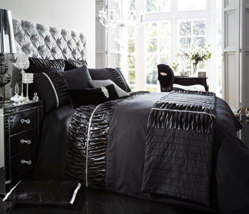Luxus Bettbezug mit Kissenbezug neue Bettwäsche (Alina Schwarz, Konig)