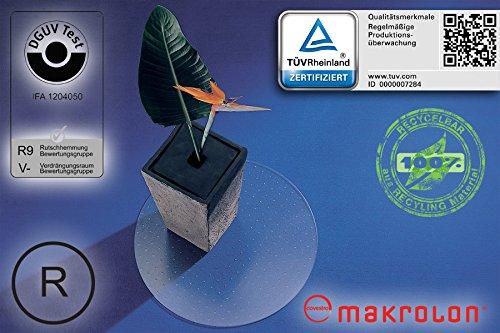 Transparente Bodenschutzmatte, Form Rund - 60 cm Durchmesser, aus Makrolon®, Schutzmatte mit Noppen für Teppichböden, 17 weitere Größen wählbar