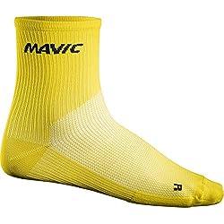 Mavic - Cosmic Mid Sock, color amarillo, talla EU 43-46