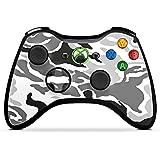 Microsoft Xbox 360 Controller Case Skin Sticker aus Vinyl-Folie Aufkleber Camouflage Muster Schwarz Grau