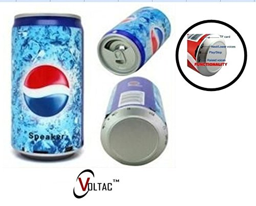 VOLTAC` ™ Soft Drink Pepsi Cola Beer Can Shape Mp3 Audio Songs Fm Radio Multimedia Speaker.  available at amazon for Rs.385