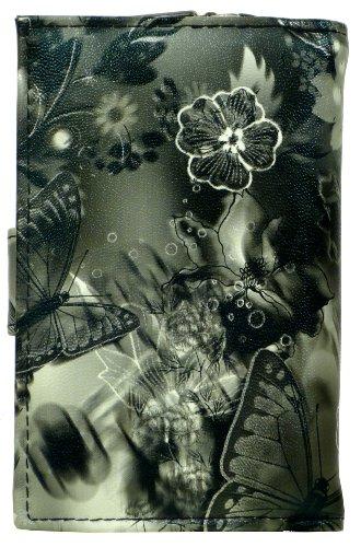 my!WALLET  Luna, Portafogli  Unisex - Adulto Butterfly Schwarz