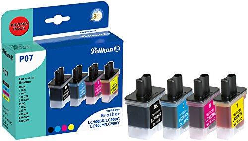 Pelikan Druckerpatronen ersetzen (Brother LC-900-BK, LC-900-X, LC-900-M, LC-900-Y)
