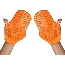 HHORD Guantes de masaje del gel del silicio eliminar la grasa del cepillo del masaje Masajeador , orange