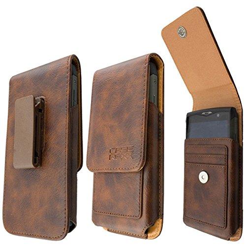 caseroxx Handy-Tasche Outdoor Tasche für CAT S60 aus Echtleder, Handyhülle für Gürtel in braun