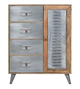 Mobiletto lipsia con 4 cassetti 1 porta in legno massello ferro giardino e - Mobiletto cucina amazon ...
