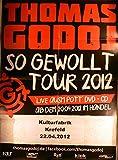 Thomas Godoj - Krefeld 2012 - Veranstaltungs-Poster A1