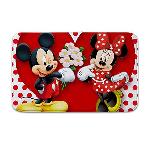 TANGGOOD Minnie Mouse Mickey Coral Fleece Alfombra