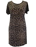 Eine (Leopard leopard long top) Braun leopardmuster Tunika. Grö?e 50/52