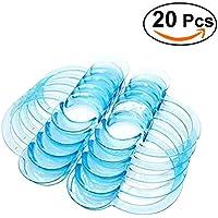 ULTNICE Dental C-forma Tipo Clear Cheek Retractor boca abridor de labios 20Pcs - L (azul)