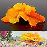 LANDUM silikon Aquarium Aquarium dekor künstliche korallen Pflanzen Unterwasser Ornament hot orange