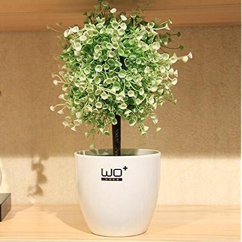 San Tai@cabezas Artificial flor de seda para la decoración de la boda de la fiesta en casa ramos de flores,Paquete incluido:Contiene una botella