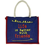 ShalinIndia - Jute Multipurpose Shopping Bag Avec Zipper