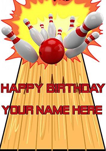 Gifts For all Geburtstagskarte / Grußkarte mit Bowling-Motiv, cptmi64, personalisierbar, mit Aufschrift