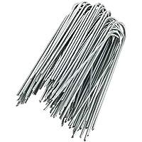 GardenMate® 100 piquets de fixation en acier GALVANISE 150 mm, 25 mm large, Ø 2,9mm